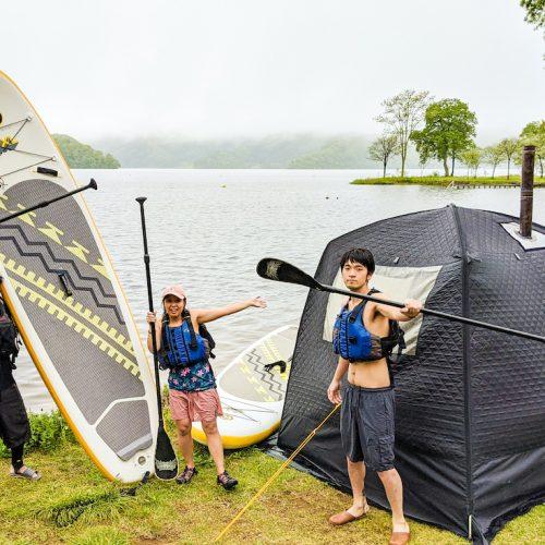 【湖上でととのう…】SUP×テントサウナ 最強プラン始まります